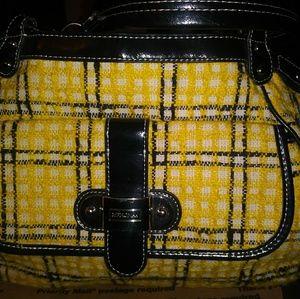 Large Merona Black & Yellow Tote Bag